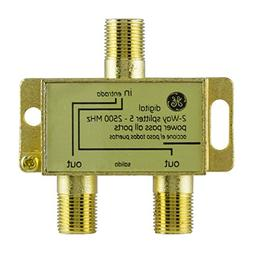 GE Pro Digital 2-Way Coaxial Splitter, Works with HDTV, Ampl