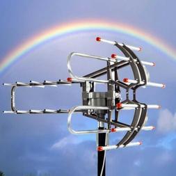 990 Mile Outdoor TV Antenna Signal Amplified V/UHF HDTV 1080