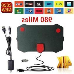 Clear Indoor Digital TV HDTV Antenna  UHF/VHF/1080p 4K.