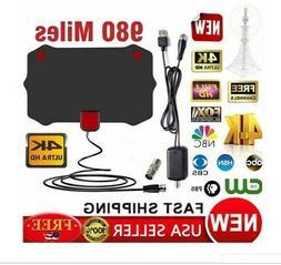 980 Miles Digital TV Antenna Signal Booster Amplifier HDTV I