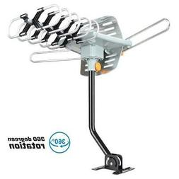 990 Mile HDTV Outdoor Amplified TV Antenna 36dB Rotate 360°