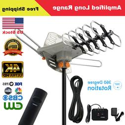 990+Miles Outdoor Amplified 1080P HDTV Digital TV Antenna Lo