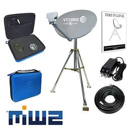 DIRECTV Swim Mobile RV Portable Satellite Dish Tripod Kit SW