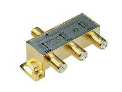 Monoprice 110014 PREMIUM 3-Way Coax Cable Splitter F-Type Sc
