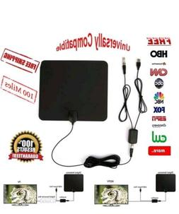 ViewTV Flat HD Digital Indoor Amplified TV Antenna - 50 Mile