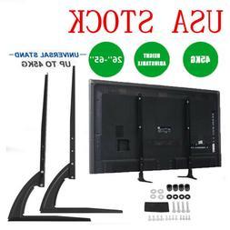 Adjustable TV Stand Base Wall Mount Bracket Tabletop for LED
