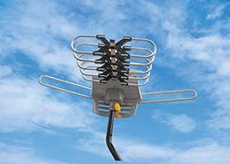 Outdoor Amplified Antenna - 150 Miles Range - 360° Rotation