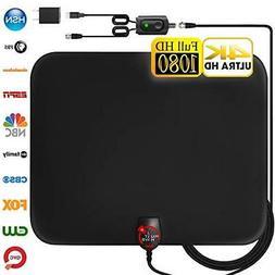 Amplified HD Digital TV Antenna 130 Miles Range Support 4K 1