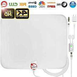 Amplified HD Digital TV Antenna Long 65-80 Miles Range –Su