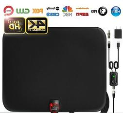 Amplified HD Digital TV Antenna with Long 65-80 Miles Range