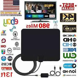 amplified hd tv antenna free channels 13ft