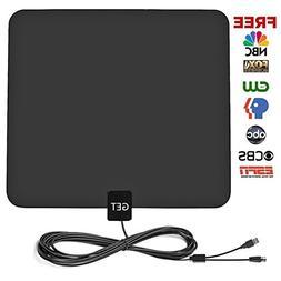GET Amplified Digital HDTV Antenna 50~75 Mile Long Reception