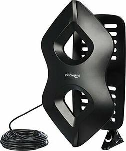 AmazonBasics Amplified Indoor/Outdoor TV Antenna - 60 Mile R