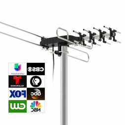 Amplified Rotating Outdoor HDTV Antenna w/ Remote Control fo