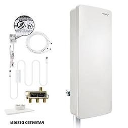 ANTOP Outdoor Antenna for Multiple TVs, 80 Miles Digital TV