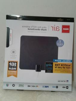 RCA ANT1100Z Ultra-Thin Multi-Directional Indoor HDTV Antenn