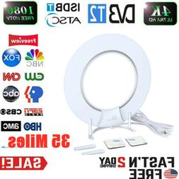 1byone Indoor TV Antenna HD Free Local Channels 35+Miles Amp
