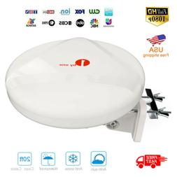 1Byone Antenna Outdoor Up 60Miles 360° Reception Amplified