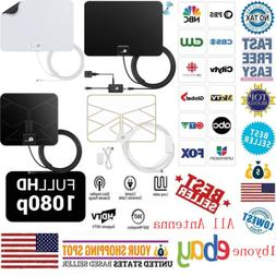 1byone Antenna 200-Mile Range TV Digital HD Skywire TV Indoo