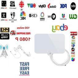 1byone Antenna TV Digital HD 200 Mile Signal TV Indoor 1080P