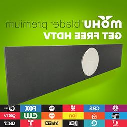 Mohu Blade Premium Amplified HDTV Antenna for Free TV, 60 Mi