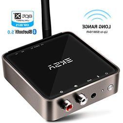 EKSA Bluetooth 5.0 Transmitter Receiver, 164ft Long Range wi