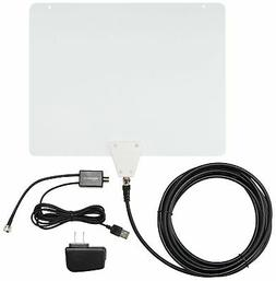 Brand New AmazonBasics Ultra Thin Indoor TV Antenna - 50 Mil