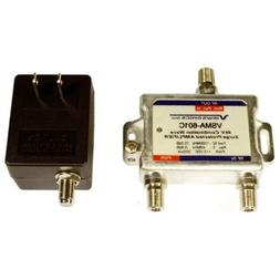 Cable TV Antenna Signal Booster Amplifier 15dB Gain + Return