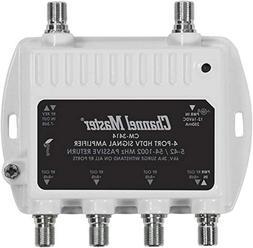 Channel Master CM3414 4-Port Distribution Amplifier for Cabl
