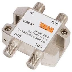BAMF 3-Way Coax Cable Splitter Bi-Directional MoCA 5-2300MHz