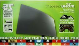 Mohu Crescent Outdoor 75 mile range TV Antenna Ultra HD 4K R