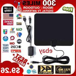 Flat HD Digital Indoor Amplified TV Antenna with Amplifier 3