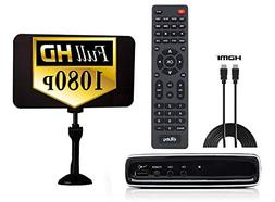 Digital Converter Box + Flat Antenna + HDMI Cable for Record