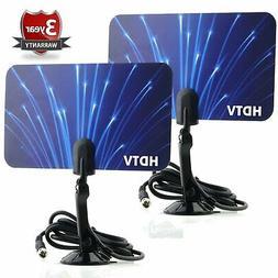 Digital Flat Thin Leaf TV HDTV UHF/VHF FM Radio Blue Blue