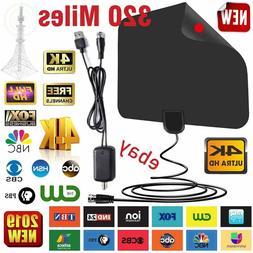 digital tv antenna 320 miles signal booster