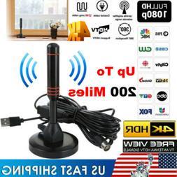Digital Indoor Amplified TV Antenna With Amplifier 200 Miles