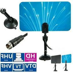 Digital Indoor TV Antenna HDTV DTV Ready HD VHF UHF Flat Des