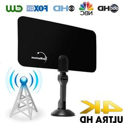 Digital Indoor VHF UHF Ultra Thin Flat TV Antenna 1080p for
