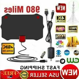 Digital TV Antenna 980Mile Signal Booster Amplifier HDTV Ind