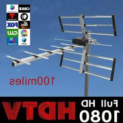 Digital TV Antenna Aerial 100mile Amplified Outdoor Long Ran