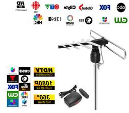 1byone Digital TV Antenna Amplified 1080P HD VHF/UHF 180 Mil