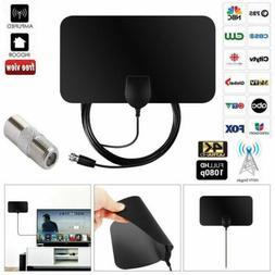 Digital TV Antenna Miles Signal Booster Amplifier HDTV Indoo