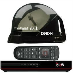 KING DISH Tailgater Pro Premium Satellite Portable TV Antenn