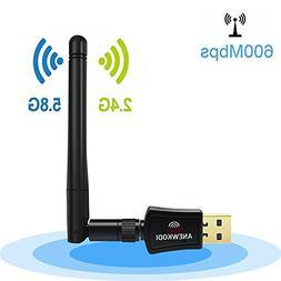 ANEWKODI 600Mbps Dual Band  Wireless USB Wifi Adapter,8