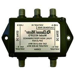 Dual Satellite Antenna Diplexer with DC Pass High Performanc