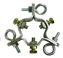 """EZ 43-A Adjustable 3 Way Down Guy Wire Ring for up to 2-1/4"""""""