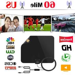 Esky Flat HD Digital Indoor Amplified TV Antenna with Amplif