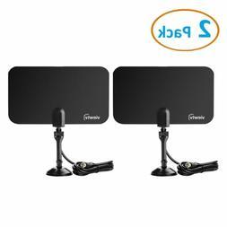ViewTV Flat HD Digital Indoor TV Antenna 2 Pack Bundle 25 Mi