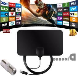 Flat Indoor HD Signal Amplifier Digital TV Antenna HDTV 50 M