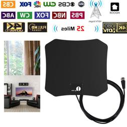 1Byone Flat Indoor HD Signal Amplifier Digital TV Antenna 4K